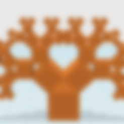 Free STL file Pythagoras Tree (1:1:Sqrt2), LGBU