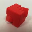 Télécharger fichier STL gratuit Cube Spinner: deux versions (lâche ou rainuré) • Plan imprimable en 3D, LGBU
