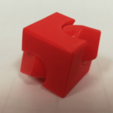 Free Cube Spinner: Two Versions (Loose or Grooved) STL file, LGBU