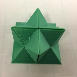 Free stl files Flexible Stellated Rhombic Dodecahedron Half, Cube Dissection, Rectangular Prism, LGBU