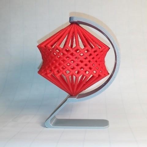 Télécharger plan imprimante 3D gatuit Cube Spinning, Cage, Hyperboloïde, LGBU