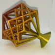 Download free 3D model Hypercube and Hyper-Hyperboloid, LGBU