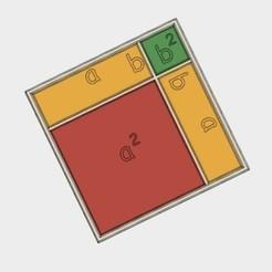 Fichier 3D gratuit (a+b)^2 = a^2 +2ab+b^2, formule algébrique, LGBU