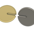 Download free STL files Oloid Base Model, Interlocking Circles, LGBU