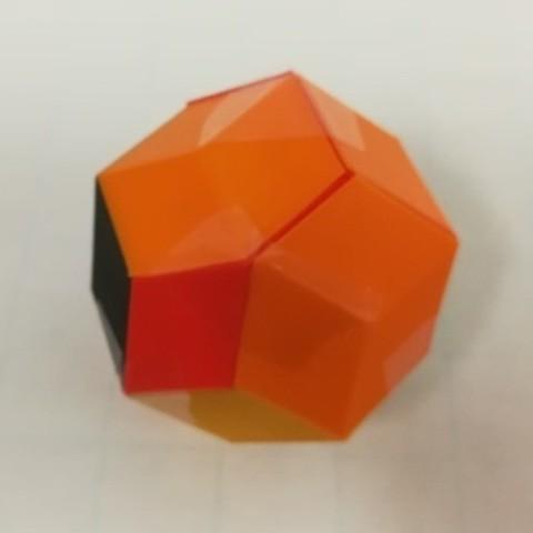 Free 3d model Puzzle, Golden Rhombohedra, Bilinski Dodecahedron, Rhomibc Triacontahedron, LGBU