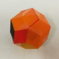 archivos stl Rompecabezas, romboedros dorados, dodecaedros de Bilinski, triacontaedros de Rhomibc gratis, LGBU