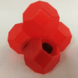 Free Half Truncated Octahedron 3D model, LGBU