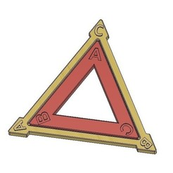 Free 3D printer model Dihedral Group D3, Equilateral Triangle, Symmetries, LGBU