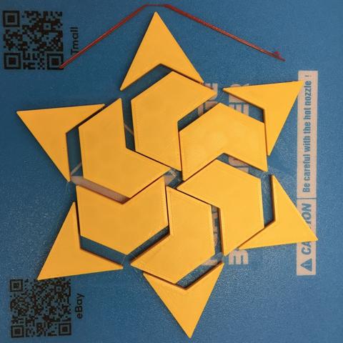 Capture d'écran 2017-12-26 à 15.10.23.png Download free STL file Hexagram, Hexagonal Star, Hexagon Puzzle • 3D printing model, LGBU
