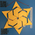 Free Hexagram, Hexagonal Star, Hexagon Puzzle 3D printer file, LGBU