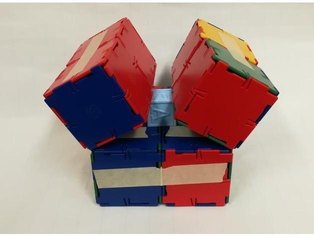 51769f5e66e67d56c87816dd892d089a_preview_featured.jpg Download free STL file Infinity Cube, Magic Cube, Flexible Cube, Folding Cube for Flexible TPU filament • 3D printing template, LGBU