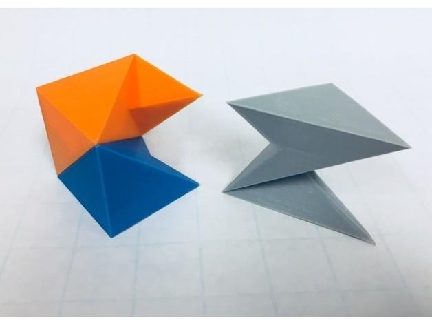 f2cb06647ac2931cfdb146452bc0c300_preview_featured.jpg Download free STL file Cube Dissection, Robert Reid, Three-Piece Puzzle, Liu Hui Cube Extension • 3D print object, LGBU