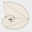 Free stl files Logarithmic Spiral, Golden Triangle, Golden Gnomon, Spira Mirabilis, LGBU