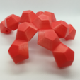 Télécharger plan imprimante 3D gatuit Ballon de football, dodécaèdre pliable, avec filament flexible, LGBU