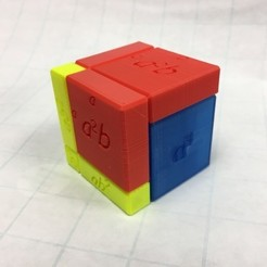 Free 3D printer designs Cube Model for (a+b)^3, LGBU