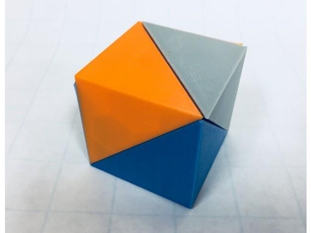 fe7d8da228fbb75bd6af5a06240c5d1e_preview_featured-1.jpg Download free STL file Cube Dissection, Robert Reid, Three-Piece Puzzle, Liu Hui Cube Extension • 3D print object, LGBU