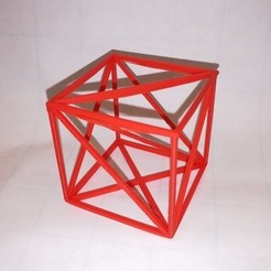 Free STL files Cube, Wired Cube, See-Through Cube, LGBU