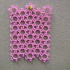 Free 3D printer designs Hexagonal Chain Mail Interlocking Patterns, LGBU