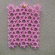 Free 3D printer designs Hexagonal Chain Mail Interlocking Patterns, LGBU