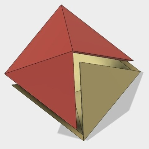 Free 3D printer designs Half Octahedron, Make Your Own, LGBU