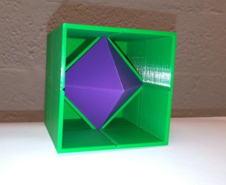 dee19894e0e8b62b07cc2a53a6af16c1_display_large.jpg Télécharger fichier STL gratuit Octaèdre en cube / Hexaèdre • Plan imprimable en 3D, LGBU