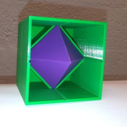 Free STL files Octahedron in a Cube / Hexahedron, LGBU