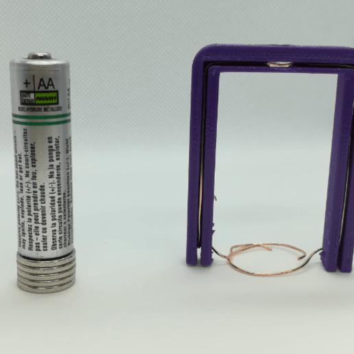 Télécharger modèle 3D gratuit Cadre / Echafaudage pour moteur homopolaire à batterie et aimant, LGBU