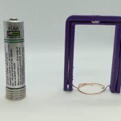 Download free 3D printer designs Frame / Scaffold for Battery-Magnet Homopolar Motor, LGBU
