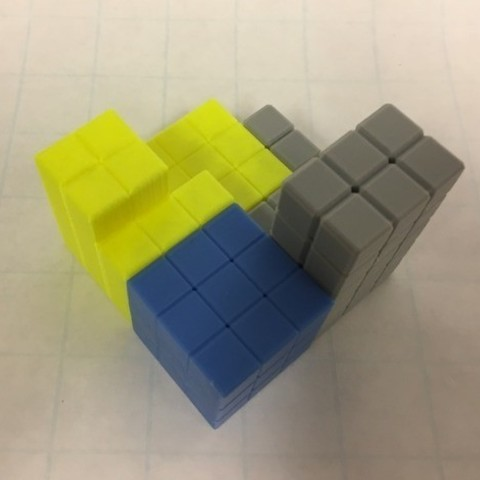 f2cb06647ac2931cfdb146452bc0c300_preview_featured.jpg Download free STL file Cube Dissection Puzzle/ Model for 3^3 + 4^3 +5^3 = 6^3 • 3D printer design, LGBU