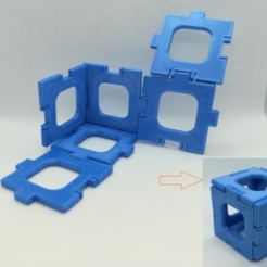p1.png Download free STL file Cube Nets / Templates / Squares • 3D print template, LGBU