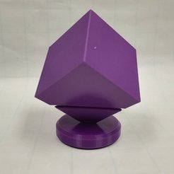 Download free 3D printer model Spin the Cube, Cone, Hyperboloid, LGBU