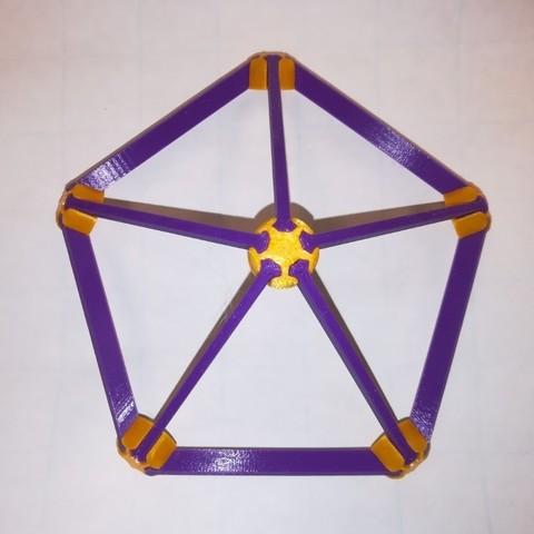 Télécharger STL gratuit Fabriquez votre propre icosaèdre platonique, Snap, LGBU