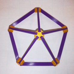 Download free 3D print files Make Your Own Platonic Icosahedron, Snap, LGBU