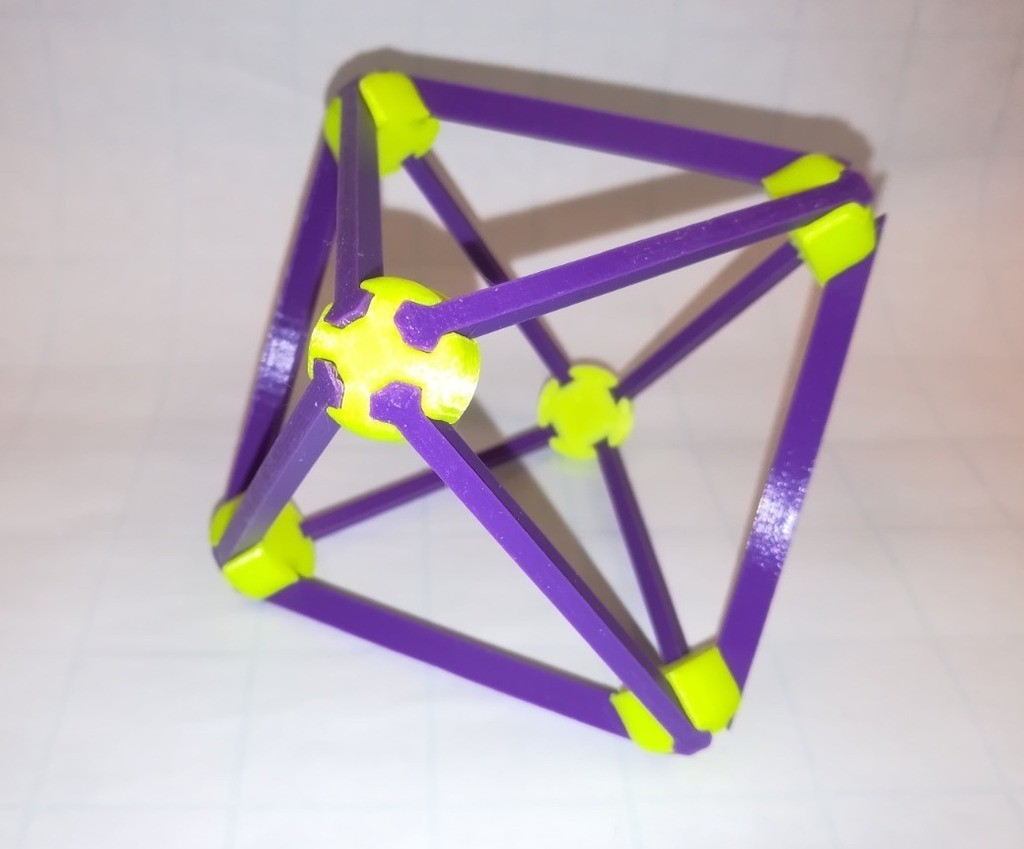dbee0ed917b6d246c1d24280bbc17880_display_large.jpg Download free STL file Make Your Own Platonic Octahedron, Snap • Model to 3D print, LGBU