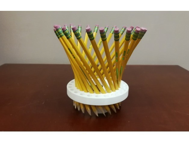 d7cc510be0080ab2eeea63a13d681f49_preview_featured.jpg Download free STL file Math Teachers' Pencil/Straw Holder/ Stand, Hyperboloid, Ruled Surface • 3D printing template, LGBU