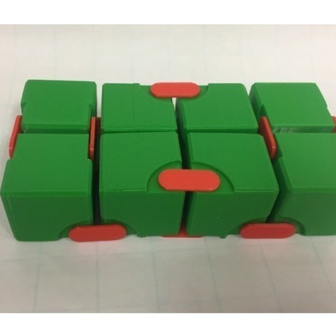 dbee0ed917b6d246c1d24280bbc17880_preview_featured.jpg Download free STL file Snapping Hinged Infinity Cube, Magic Cube, Flexible Cube, Folding Cube • 3D printer object, LGBU