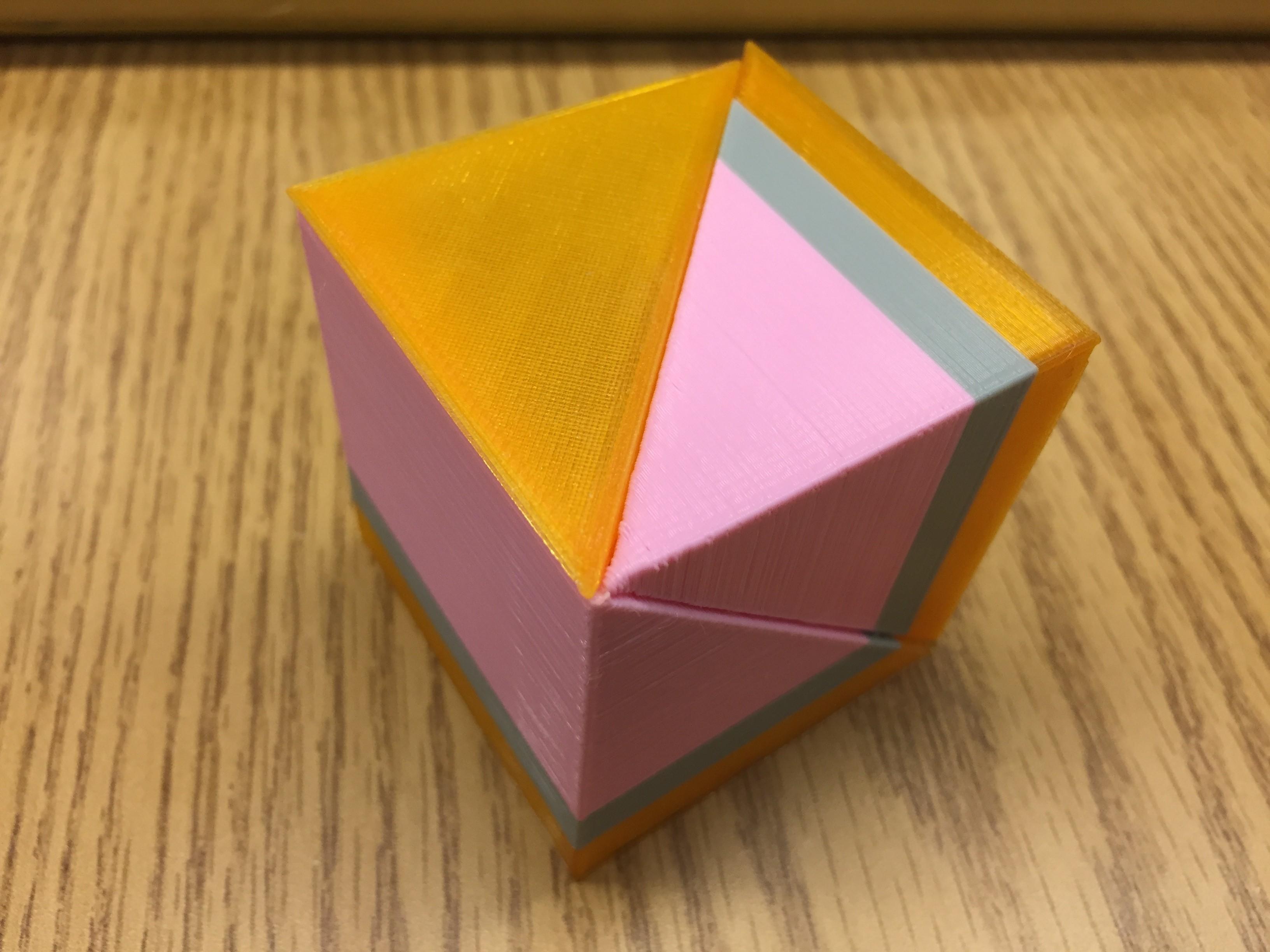 IMG_1507.jpg Télécharger fichier STL gratuit Liu Hui Cube Puzzle / Dissection (Qiandu, Yangma, Bie'nao) • Plan imprimable en 3D, LGBU