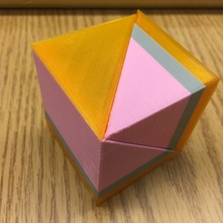 Free 3D printer model Liu Hui Cube Puzzle/Dissection (Qiandu, Yangma, Bie'nao), LGBU