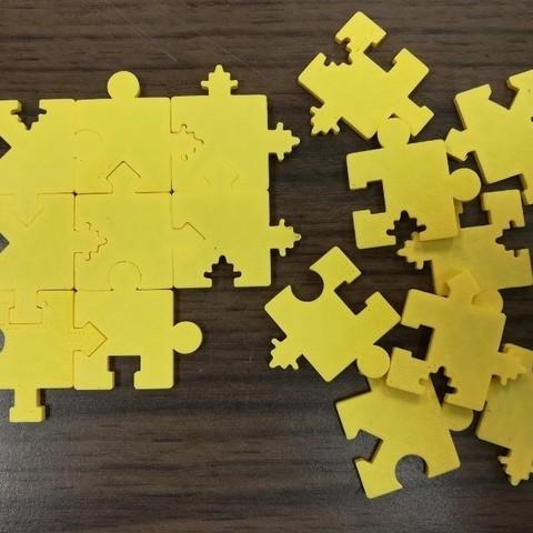 Free 3D printer files Jigsaw Puzzle, 16 Distinct Pieces, Shapes &