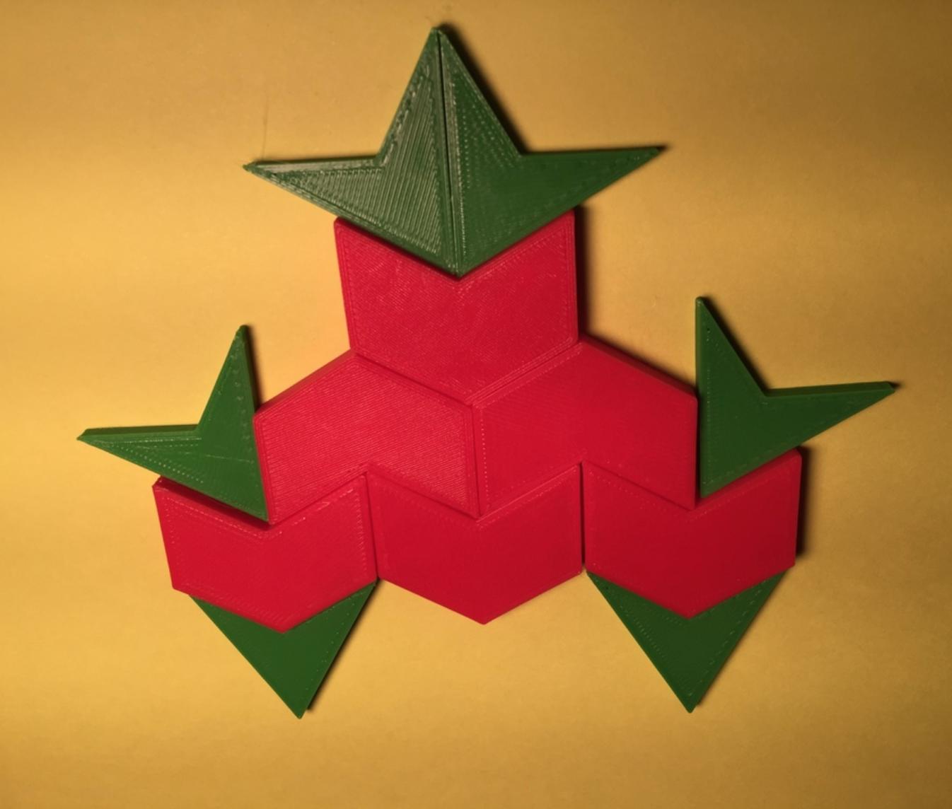 Capture d'écran 2017-12-26 à 15.10.39.png Download free STL file Hexagram, Hexagonal Star, Hexagon Puzzle • 3D printing model, LGBU