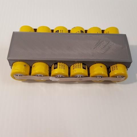 Batt2.jpg Download STL file TR 18650 Battery Holder • Object to 3D print, GForceFX