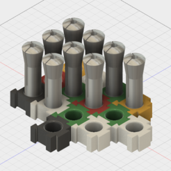 R8 Collet Holder (Expandable) 3D model, GForceFX