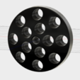 R8 Top Through Hole.PNG Download STL file R8 Collet Spinning Holder • Design to 3D print, GForceFX