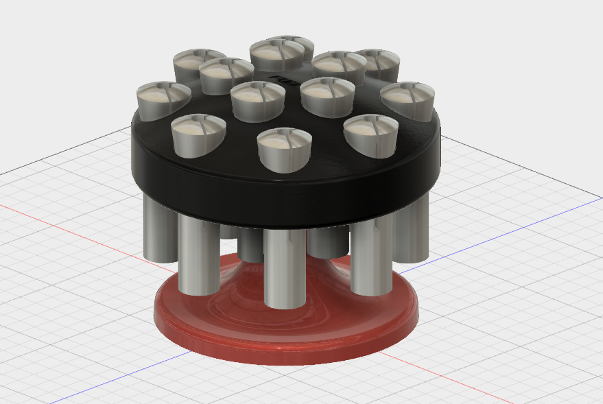 R8 Stand Assy.PNG Download STL file R8 Collet Spinning Holder • Design to 3D print, GForceFX
