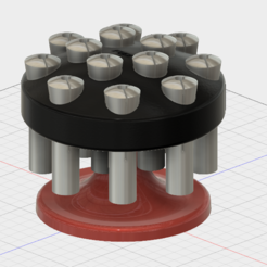 3D file R8 Collet Spinning Holder, GForceFX