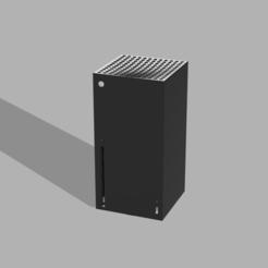 xbox front.PNG Télécharger fichier STL gratuit Poubelle Xbox Series X • Objet pour impression 3D, Black-Hurricane