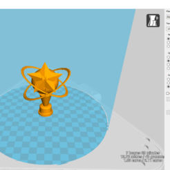 Download free 3D printing templates Mario Kart trophy, Black-Hurricane