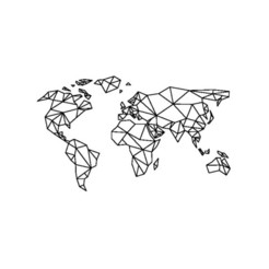 3D printer files Geometrical World Map // Geometrical world map (17 pieces), 2T2L