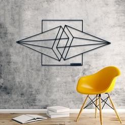 deco-murale-metal-triangles (1).jpg Télécharger fichier STL GEOMETRICAL WALL DECORATION // DÉCORATION MURALE GÉOMÉTRIQUE (7 PIECES) • Objet pour imprimante 3D, 2T2L