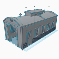 remise loco 2.png Download STL file remise a loco - N scale • Template to 3D print, wericless